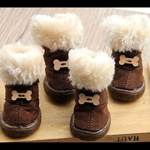 Accessories - Ugg-like boots for tiny dog breed
